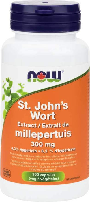 NOW St. John's Wort Extract 300 mg 100 Capsules