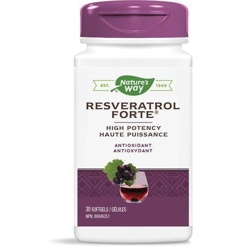 Nature's Way Resveratrol Forte Antioxidant Softgels