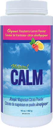 Natural Calm Magnesium Raspberry Lemon 16 oz/ 454 g