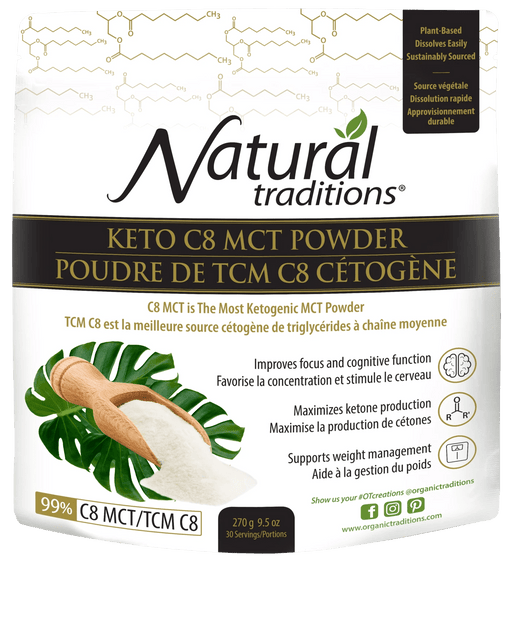 Natural Traditions Keto C8 MCT Powder
