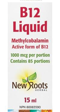 New Roots B12 Liquid Methylcobalamin 1000 mcg