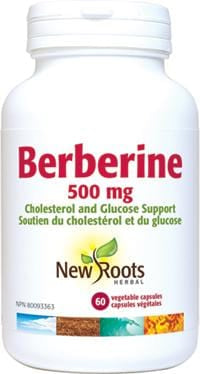 New Roots Berberine 500 mg Vegetable Capsules