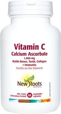 New Roots Vitamin C Calcium Ascorbate 1000 mg Vegetable Capsules