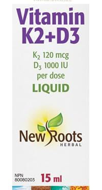 New Roots Vitamin K2+D3 Liquid