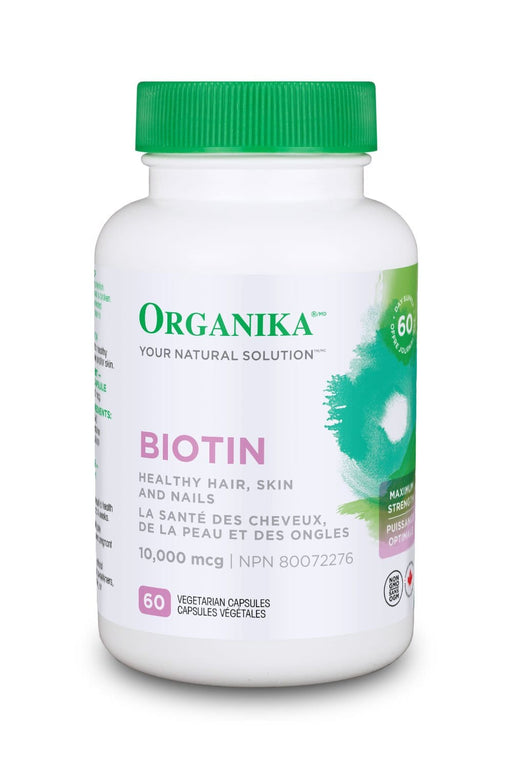 Organika Biotin Maximum Strength 10,000 mcg 60 Capsules