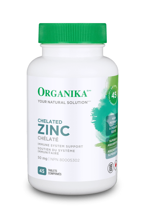 Organika Chelated Zinc 45 Tablets