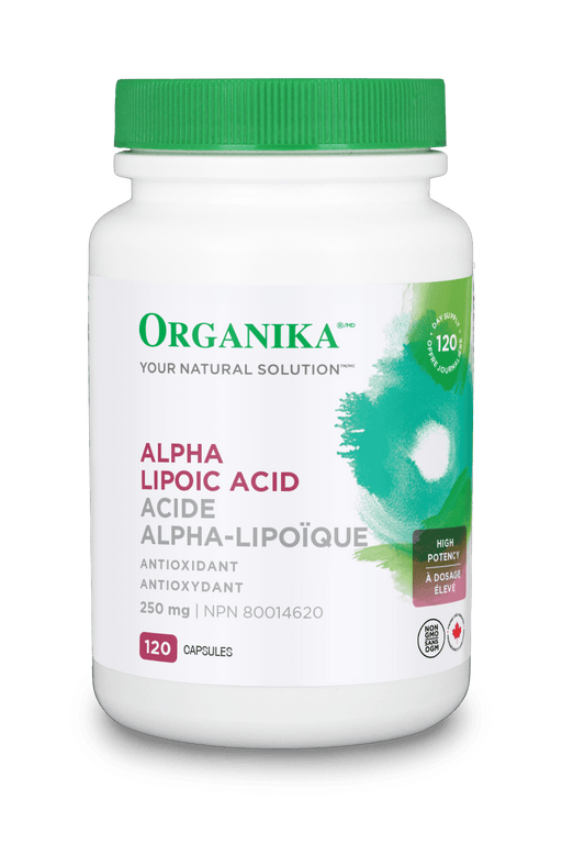 Organika ALPHA LIPOIC ACID (High Potency) 250MG 120 Capsules