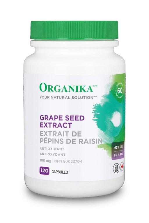 Organika GRAPE SEED EXTRACT (HI POTENCY 95 % OPC) 100MG 120 Capsules