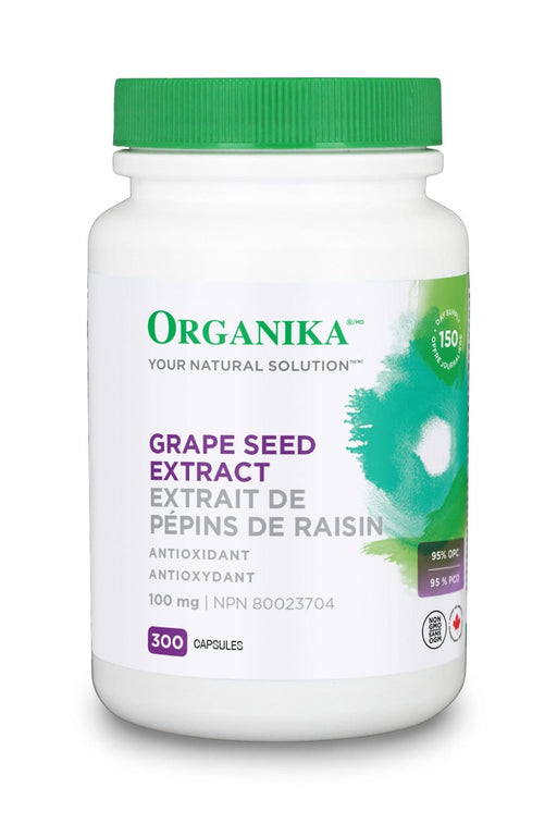 Organika GRAPE SEED EXTRACT (HI POTENCY 95 % OPC) 100MG 300 Capsules