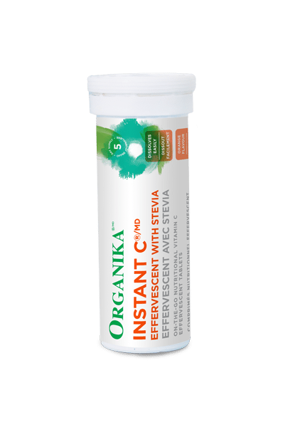 Organika Instant C Effervescent With Stevia 10 Tablets