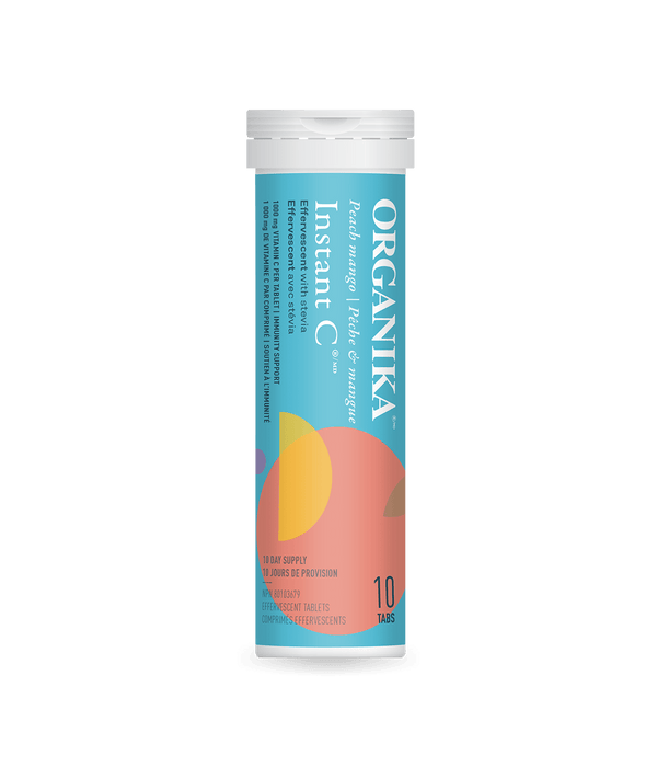 Organika Instant C Effervescent Tablets Peach Mango Flavour