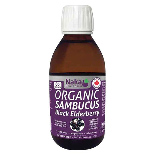 Naka Organic Sambucus Black Elderberry Syrup 300 ml