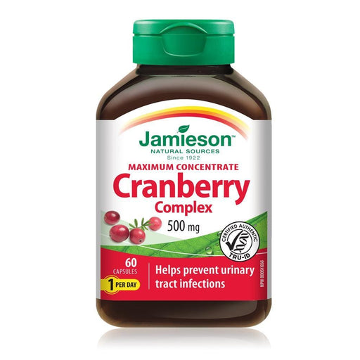 Jamieson Maximum Concentrate Cranberry Complex 500 mg 60 Capsules