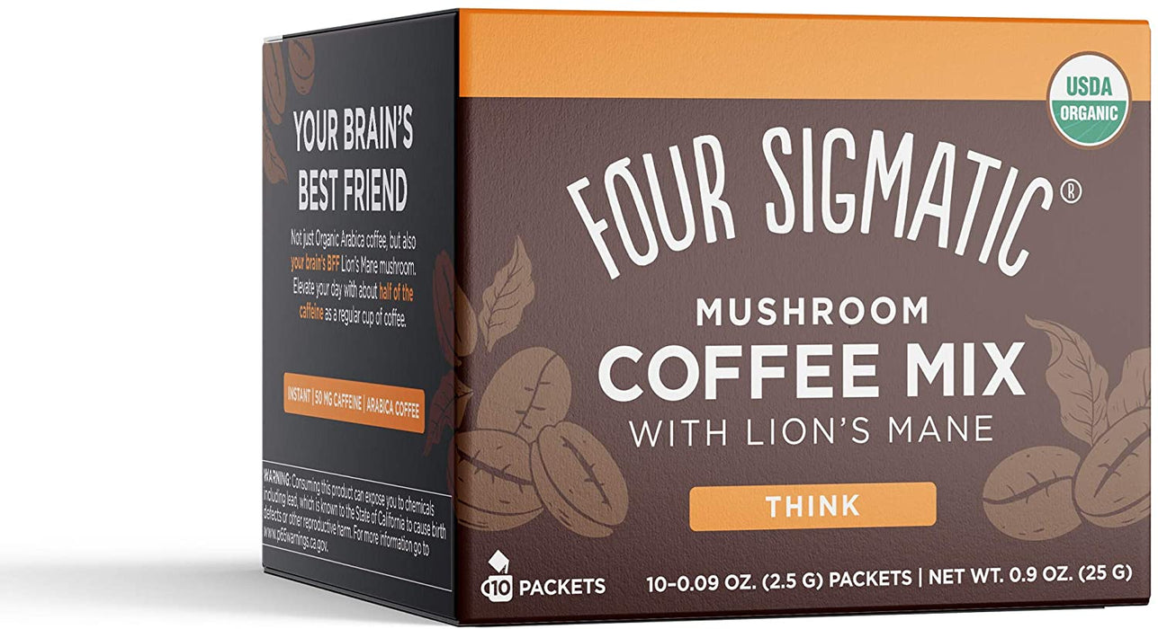 Four Sigmatic Mushroom Coffee Mix with Lion's Mane & Chaga 10 x 2.5 g Packet