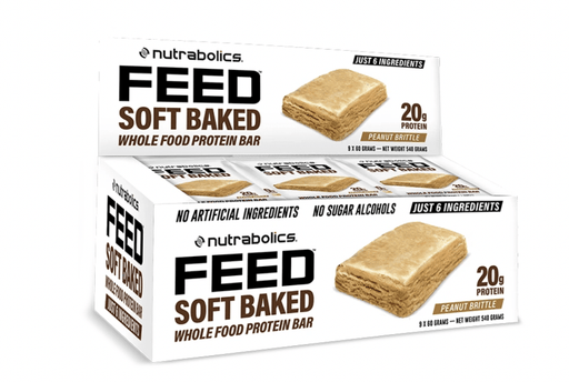 Nutrabolics FEED Soft Baked Protein Bar 20g protein Peanut Brittle