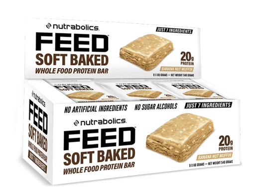 Nutrabolics FEED Soft Baked Protein Bar 20g protein Banana Nut Muffin