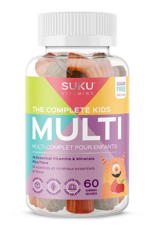 Suku Vitamins The Complete Kid's Multi Plus Fibre 60 Gummies