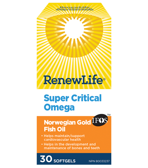 Renew Life Super Critical Omega 30 Softgels