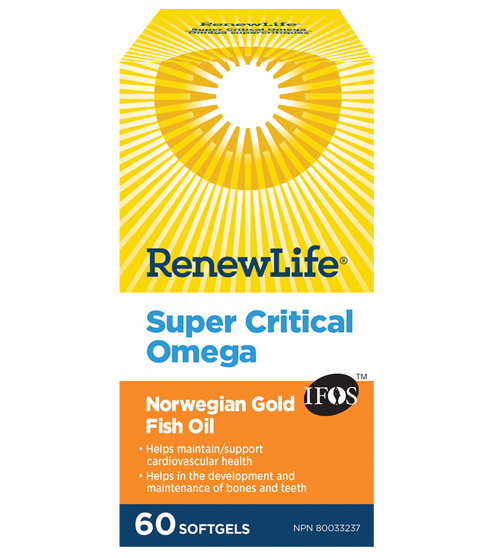 Renew Life Super Critical Omega 60 Softgels