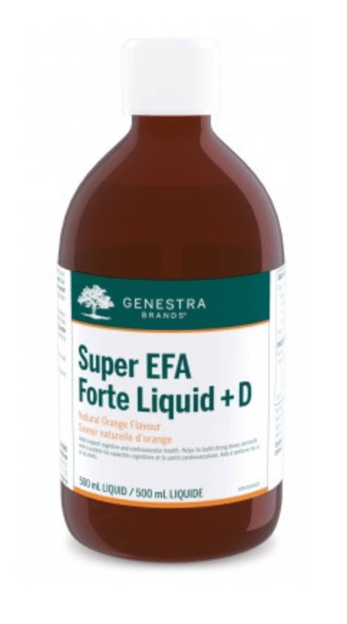 Genestra Super EFA Forte Liquid + D Natural Orange Flavour