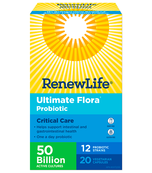 Renew Life Ultimate Flora Critical Care 50 Billion 20 Capsules, No Refrigeration (Short Dated)