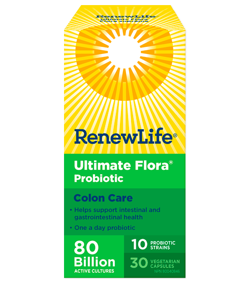 Renew Life Ultimate Flora Colon Care 80 Billion 30 Veg-Cap
