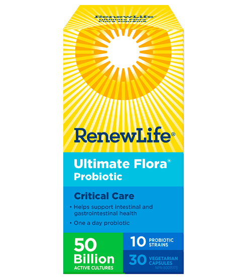 Renew Life Ultimate Flora Critical Care 50 Billion 30 Veg-Cap