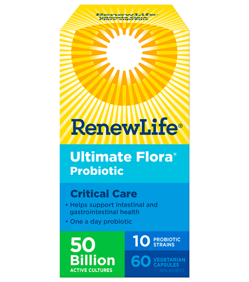 Renew Life Ultimate Flora Critical Care 50 Billion 60 Veg-Cap