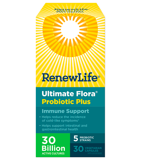 Renew Life Ultimate Flora Probiotic Plus Immune Support 30 Billion Active Cultures 30 Veg-Cap
