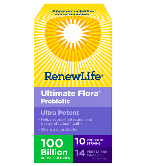 Renew Life Ultimate Flora Ultra Potent 100 Billion 14 Veg-Cap