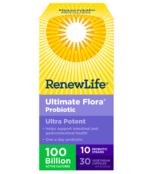 Renew Life Ultimate Flora Ultra Potent 100 Billion 30 Veg-Cap