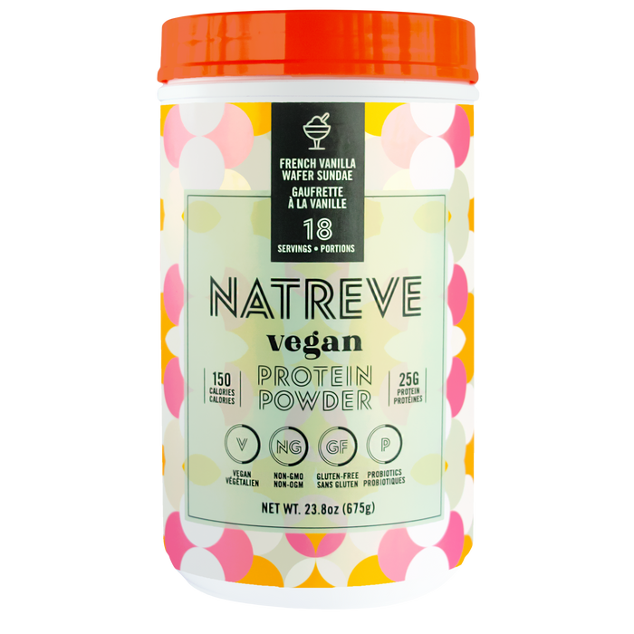 Natreve Vegan Protein French Vanilla Wafer Sundae 675 g