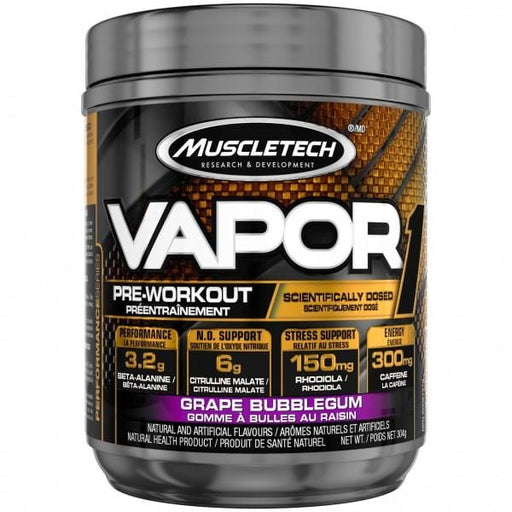 MuscleTech Vapor One Pre-Workout Grape Bubblegum 304 g