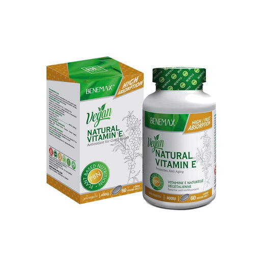 Benemax  Natural Vitamin E – 400 IU Liquid Veggie-Gels