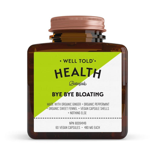 Well Told Health Bye Bye Bloating 480 mg 60 V-Caps
