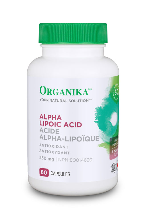 Organika ALPHA LIPOIC ACID (High Potency) 250MG 60 Capsules