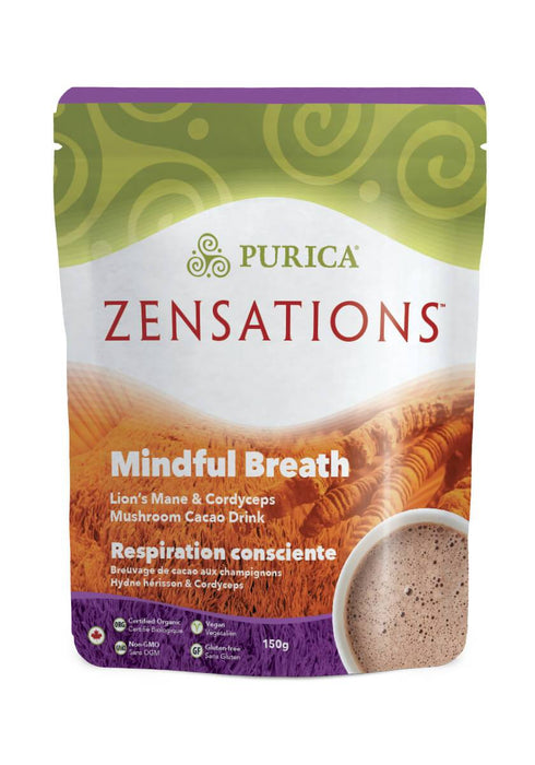 Purica Zensations Mindful Breath Lion's Mane & Cordyceps Mushroom Cacao Drink 150 g