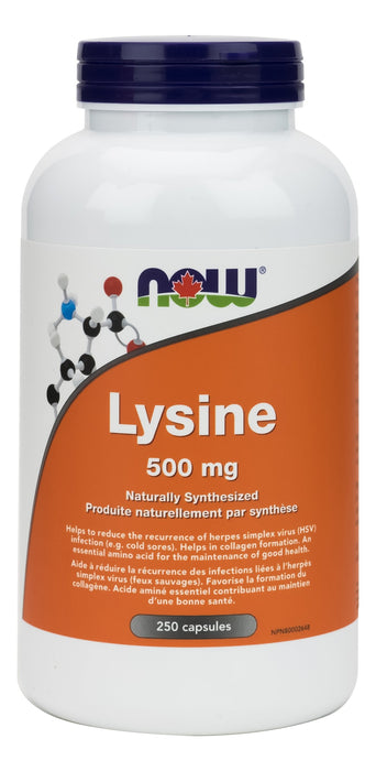 NOW L-Lysine 500 mg 250 Capsules