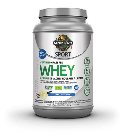 Garden of Life Sport Certified Grass Fed Whey Vanilla 652 g