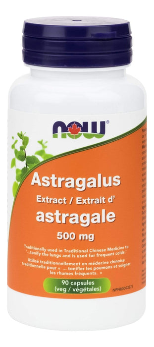 NOW Astragalus Extract 500 mg 90 V-Caps