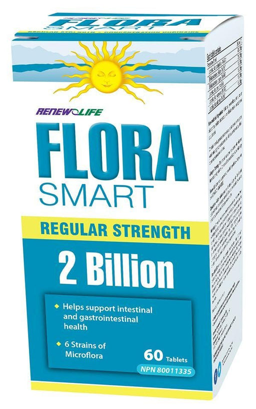 Renew Life FloraSMART 2 Billion Active Cultures 60 Tablets