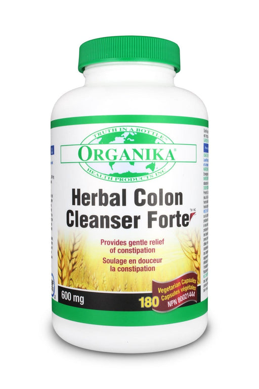Organika HERBAL COLON CLEANSER FORTE 600MG 180 Capsules