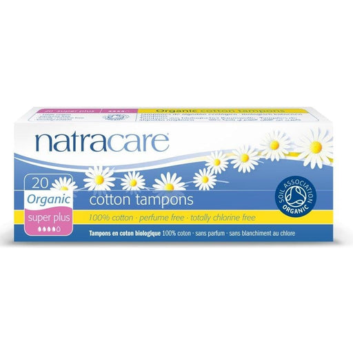 Natracare Organic 20 Super Plus Cotton Tampons