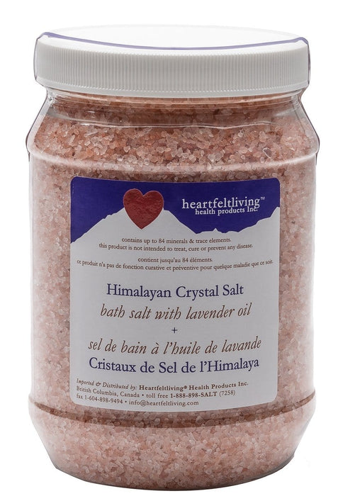 Heartfelt Living Himalayan Crystal Bath Salt - Lavender