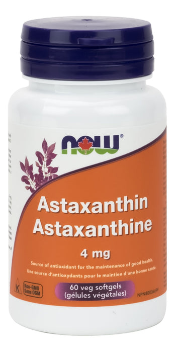 NOW Astaxanthin 4 mg 60 Veg Softgels