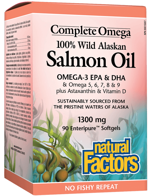 Natural Factors 100% Wild Alaskan Salmon Oil 90 Softgels