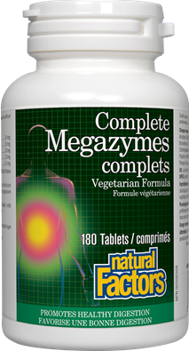 Natural Factors Complete Megazymes 180 Tablets