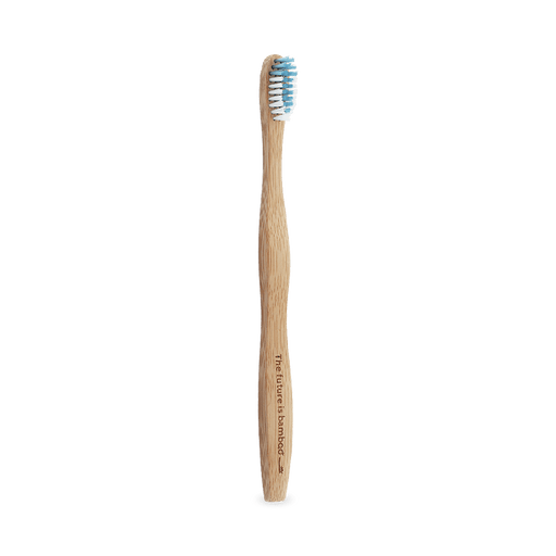 The Future Is Bamboo Adult Soft Bristle Tooth Brush Blue