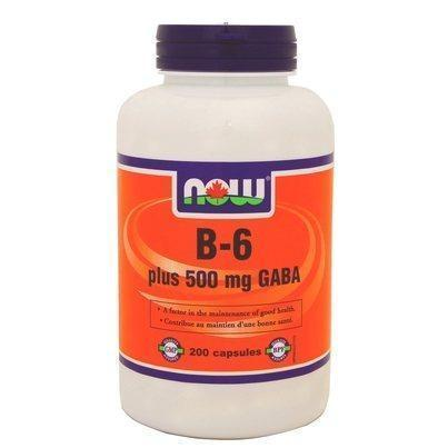 NOW GABA 500mg + B-6 200 V-Caps