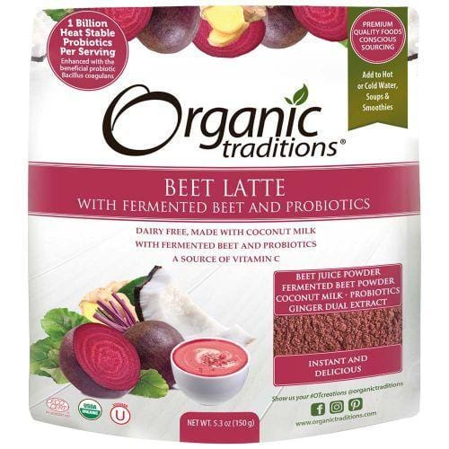 Organic Traditions Beet Latte with Fermented Beet and Probiotics 150 g